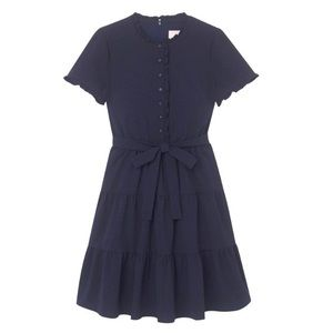 GAL MEETS GLAM Maisie Tiered Bow Tie Ruffle Dress